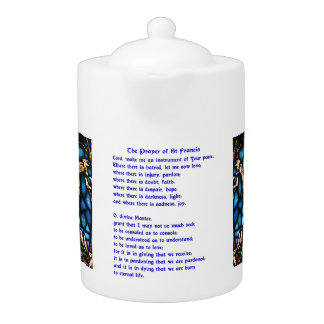 St Francis Prayer Teapot