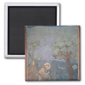 St. Francis Preaching to the Birds, 1297-99 Square Magnet