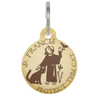 St. Francis Protect This Cat Pet ID Tag