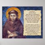 St Francis' Serenity Prayer Poster