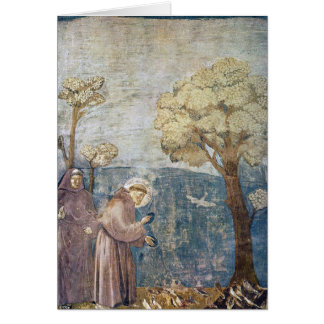 St. Francis Sermon to the Birds Assisi Basilica Card
