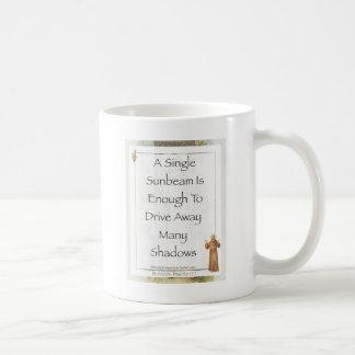 st. francis sunbeam prayer coffee mug
