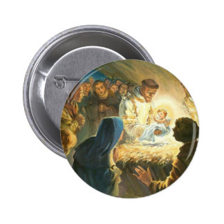 St Francis with Baby Jesus Christmas Gift Nativity Pin