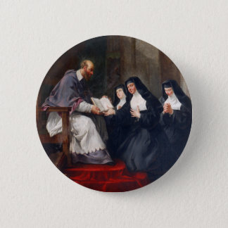 St. Francoise with St. Jeanne 6 Cm Round Badge