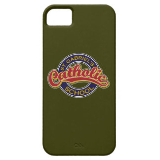 St. Gabriel's Catholic School Red on Blue iPhone 5 Cases