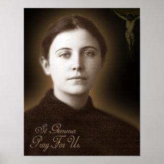 St Gemma Galgani, Poster