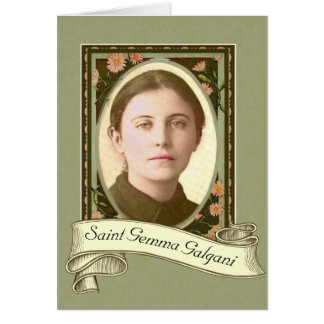 St. Gemma Galgani Saint of Back Pain Holy Card
