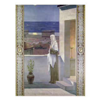 St. Genevieve Watches Over the Sleeping City Postcard