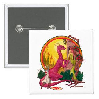 St.George and the Dragon Pinback Button