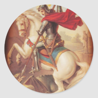 St. George and the Dragon Round Sticker