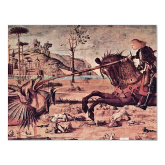 St. George Fighting The Dragon By Carpaccio Vittor Card