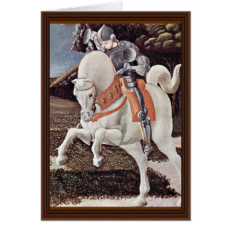 St. George Fighting The Dragon Detail By Uccello Card