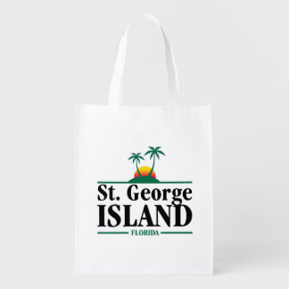 St George Island Florida Reusable Grocery Bag
