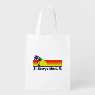 St. George Island Florida Reusable Grocery Bag