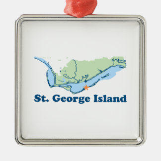 St George Island. Metal Ornament