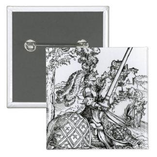 St. George on Horseback, 1507 15 Cm Square Badge
