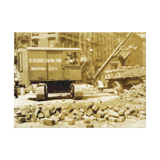 St George Paving Co New York City Crane Operator Canvas Print