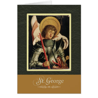 St. George Pray For Us Card