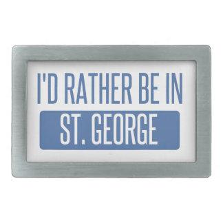 St. George Rectangular Belt Buckle