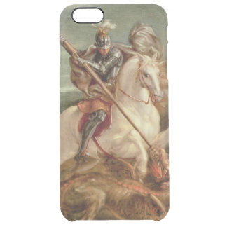 St. George slaying the dragon, (oil on panel) Clear iPhone 6 Plus Case