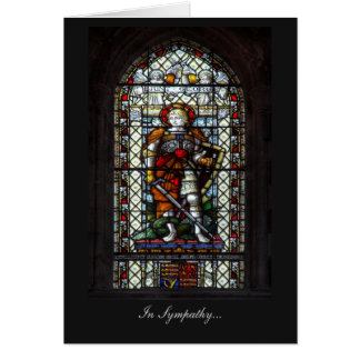 St George stained glass window - In Sympathy Card