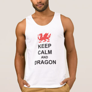 St Georges Day KEEP CALM and DRAGON Singlet