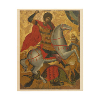 St. Georgius Catholicus Miles Imperii Romani Wood Wall Art