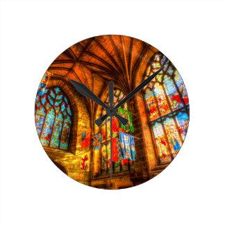 St Giles Cathedral Edinburgh Scotland Round Clock