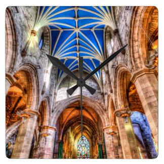 St Giles Cathedral Edinburgh Scotland Square Wall Clock