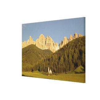 St Giovanni, Val di Funes, Dolomites, Italy Canvas Print