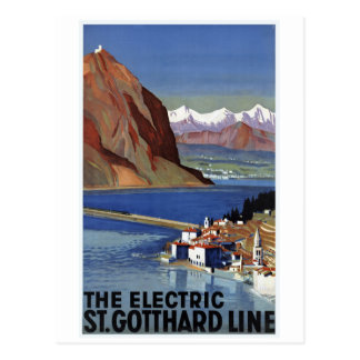 St.Gotthard Line Switzerland Vintage Travel Postcard
