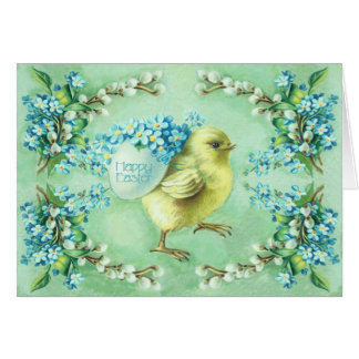 st_green_chick greeting card