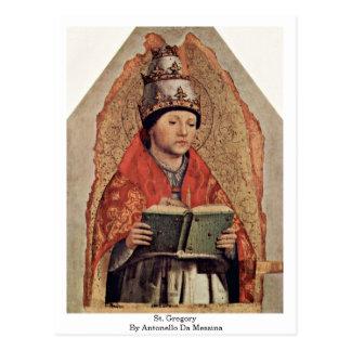 St. Gregory By Antonello Da Messina Postcard