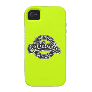 St. Hedwig Catholic School Black and White iPhone 4/4S Cover