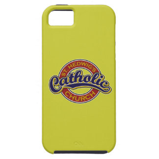 St. Hedwig's Catholic Church Blue on Red iPhone 5 Covers