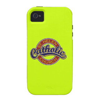 St. Helen Catholic School Blue on Red Vibe iPhone 4 Covers