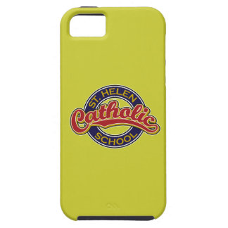 St. Helen Catholic School Red on Blue iPhone 5 Cover