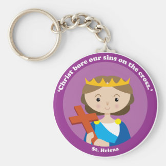 St. Helena Basic Round Button Key Ring