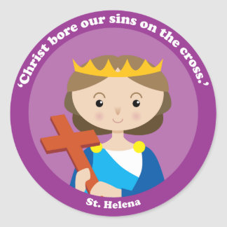 St. Helena Classic Round Sticker
