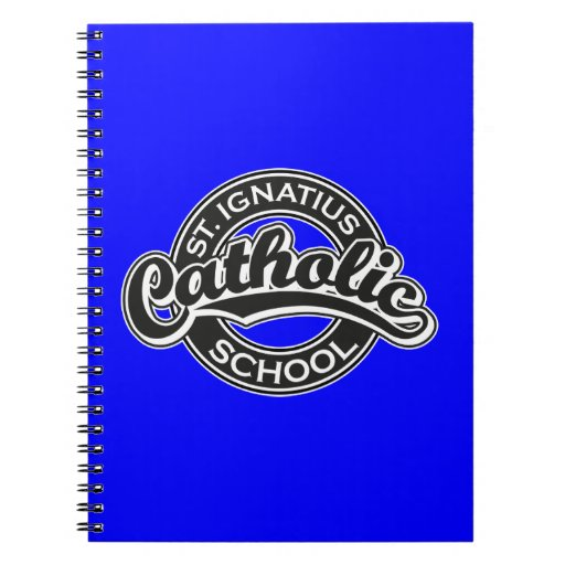 St. Ignatius Catholic School Black and White Spiral Note Book