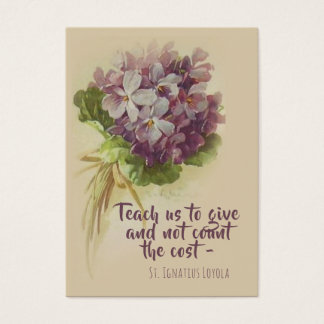 St. Ignatius Loyola Quote with Flowers Holy Card