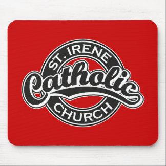 St. Irene Catholic Church Black and White Mouse Pad