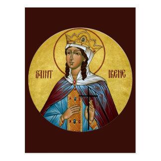 St. Irene Prayer Card Postcard