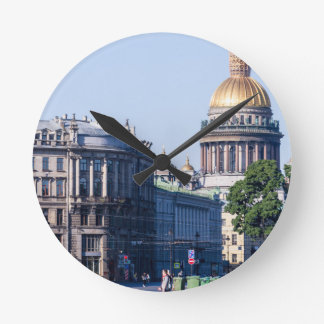 St Isaac's Cathedral St Petersburg Russia Round Clock