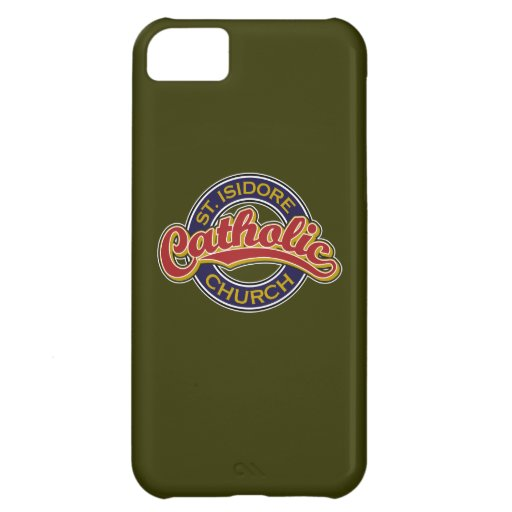 St. Isidore Catholic Church Red on Blue iPhone 5C Covers