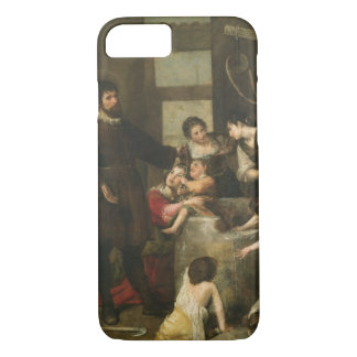 St. Isidore saves a child that had fallen in a wel iPhone 7 Case