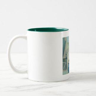 St Ives Mug:  Jug, St Ives Window. Two-Tone Coffee Mug