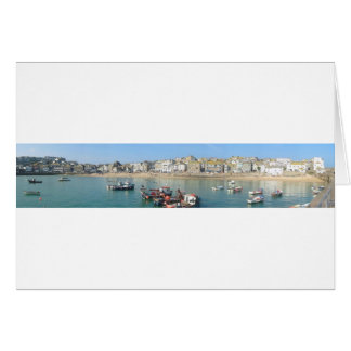 St Ives Panoramic Greeting Card