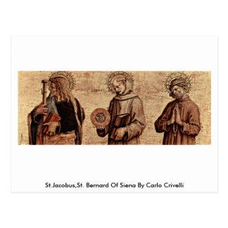 St.Jacobus,St. Bernard Of Siena By Carlo Crivelli Post Card