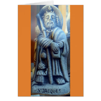 St Jacques statue Card